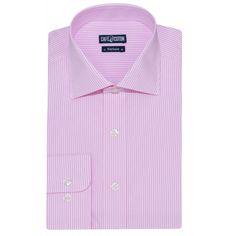 Chemise coupe cintrée à rayures rose - Café Coton #chemise #chemisehomme http://www.cafecoton.fr/nouveaux-cols/10994-chemise-coupe-cintree-a-rayures-rose.html