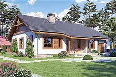 Projekt domu Julek styl z garażem [A] 99 - koszt budowy 194 tys. Home Fashion, House Design, House Styles, Outdoor Decor, Colonial, Home Decor, Verandas, House, Homemade Home Decor