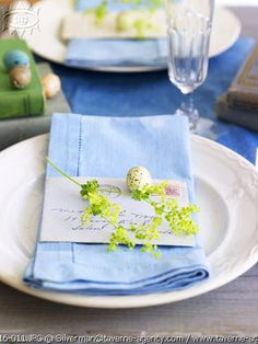 for a country easter place setting