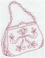 Machine Embroidery Designs at Embroidery Library! - A Redwork Victorian Shoes and Handbags Dsg Pk - Lg