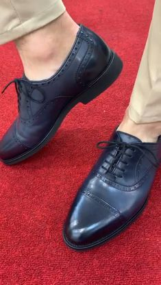 Ade Blue Lace Up Cap Toe Oxfords – brabion : Men Shoes With Jeans, Mens Casual Leather Shoes, Mens Loafers Shoes, Italian Leather Shoes, Black Leather Shoes, Lace Oxfords, Shoes Men, Suede Leather, Black Suede