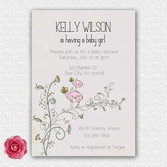 baby+shower+invitation+girl+or+boy+++birds+by+ElleOL+on+Etsy,+$15.00