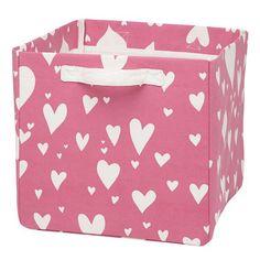 Love Struck Cube Bin (Pink)  | The Land of Nod