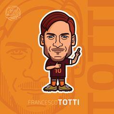 Francesco Totti #totti #francesco #football #cartoon #comic #italy #calcio #asroma #roma #vector #illustration #art #tommillerart #tommillerdesign