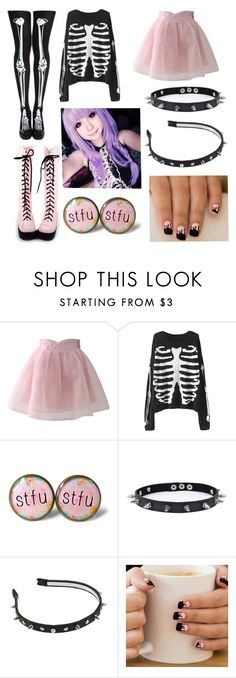 """pastel goth #14"" by ironically-a-strider21 ❤ liked on Polyvore featuring Chicwish and Trend Cool"