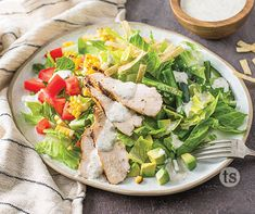 Grilled chicken salad is the perfect summertime meal. This version, made with grilled corn and a Si Si Cilantro dressing, will become a new favorite. Grilled Chicken Salad, Chicken Salad Recipes, Chicken Taco Seasoning, Tastefully Simple Recipes, Chicken Wild Rice Soup, Cilantro Dressing, Romaine Salad, Cilantro Lime Chicken, Top Recipes