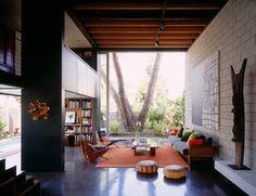 Concrete floors, living room