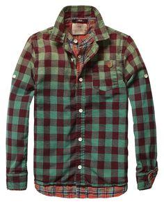 Double Layer Check Shirt - Scotch & Soda