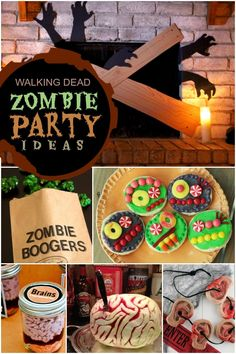 Walking Dead Zombie Party Boys Birthday Ideas
