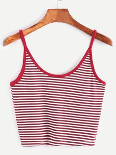 To find out about the Striped Contrast Binding Crop Cami Top at SHEIN, part of our latest Tank Tops & Camis ready to shop online today! Cami Tops, Cute Crop Tops, Cami Crop Top, Striped Crop Top, Crop Tank, Camisole Top, Fast Fashion, Latest Fashion For Women, Fashion Fashion