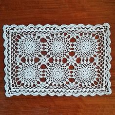 Vintage lace doily 1990s Napkin crochet Handmade by MyWealth