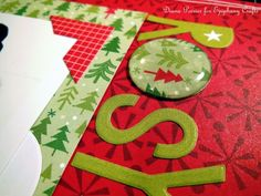 Create your own #christmas epoxy shapes with the #epiphanycrafts Shape Studio Tools. #DIY #scrapbook #layout