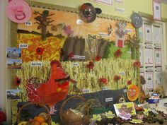 Lovely idea of linking the story of The Little Red Hen to the harvest festival