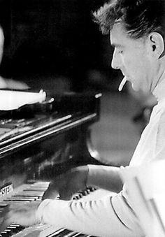 Leonard Bernstein on Bechstein