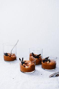 Dairy Free Chocolate Hazelnut Soft Serve Recipe   TENDING the TABLE food photography