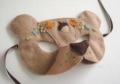 bear felt mask pattern