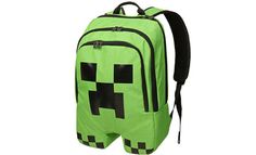 Start your school year off with a bang with this minecraft bookbag.  http://greatgeekygifts.com/minecraft-bookbag/  #minecraft #creeper #bookbag #backpack #videogames #indie #kids