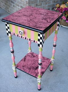 Furniture designs by Paintiques Whimsical Painted Furniture, Hand Painted Furniture, Funky Furniture, Art Furniture, Repurposed Furniture, Furniture Projects, Furniture Makeover, Vintage Furniture, Painting Furniture