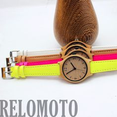 4 colors Casama Bamboo Wood Watch - Relomoto, $60