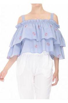 NISΩ - Γυναικεία Ρούχα Off Shoulder Blouse, Collection, Tops, Women, Fashion, Moda, Fashion Styles, Fashion Illustrations, Woman