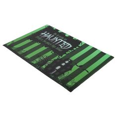 #Door Mat - 'Be it ever so Haunted' Green - #doormats #home & #living