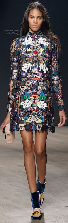 14th May - Fall 2014 Ready-to-Wear Mary Katrantzou - this dress not only has a beautiful print but also reminds me of a puzzle in the way its pieced together - like my map.