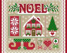 Noel Christmas Sampler Cross Stich Chart PDF