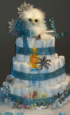 cakes winter wonderland diapers cake winter wonderland diaper cake
