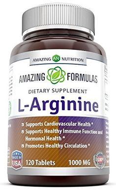 Amazing Nutrition L-arginine 1000 Mg 120 Tablets - Supports Circulation and Muscles - Supports Cardiovascular Health - Conditionally Essential Amino Acid - Pharmaceutical Grade (Usp) *** You can get additional details at the image link.