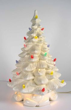 Vintage Ceramic Christmas Tree but in green. We never had one, but they make me sentimental non the less