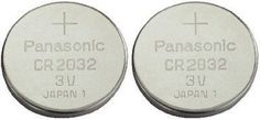 11/11/2016 -- Cr2032 Battery (2 Pack) - Panasonic, Lithium Coin. Only $2.25! :)