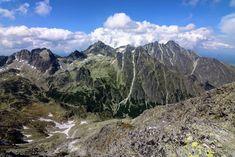 The Veľká Studená dolina from the Slavkovský štít Tatra Mountains, My Eyes, Mount Everest, Trail, Hiking, Nature, Pictures, Walks, Photos