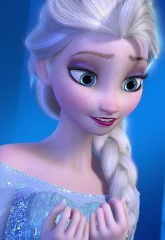 Queen Elsa Smiling wallpaper in The Frozen Club