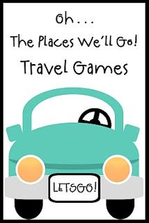 License plate & letter game printables for activity notebook.