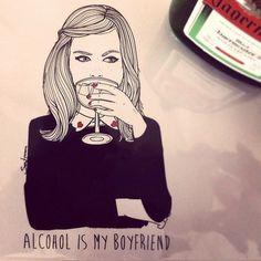 El alcohol es la solucion. Sara Herranz
