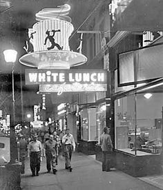 White Lunch, classic diner on Hastings Street Vancouver Photos, Vancouver Bc Canada, Old Pictures, Old Photos, Vintage Photos, Suspension Bridge Vancouver, Neon Jungle, Vintage Neon Signs, Iconic Photos