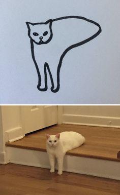 Poorly Cat Draw
