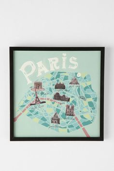 map of paris painting