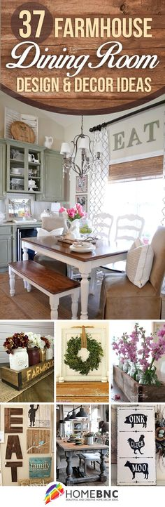 Farmhouse Dining Room Decorations