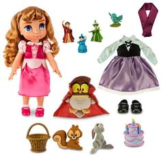 NIB 16 Inch Disney Princess  Animators' Sleeping Beauty -  Aurora Doll Gift Set #Disney