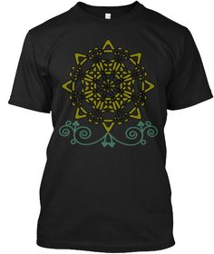 Gold Black T-Shirt Front