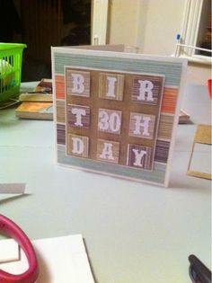 Little Blue Craft Box: 30th Birthday Card - Inchie Style