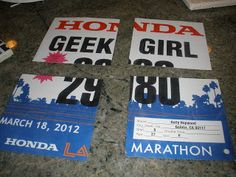 DIY Race Bib Coasters
