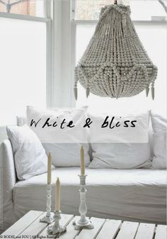 Beaded Chandelier from BODIE and FOU NEW SS/14 | THE WHITE & BLISS COLLECTION BODIE and FOU★ Le Blog | Effortless chic | French Interiors | Inspiring Design