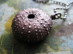 Sea Urchin // Shell // Marine Science // Electroformed Copper Necklace  Ellen Dooley SRA