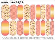 Jamberry NAS Design by Tina Hudgens Design #98 - Coral Crush