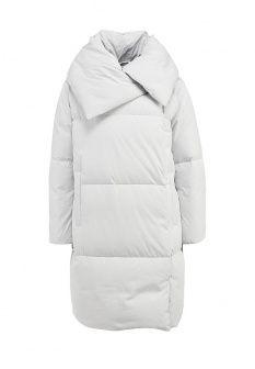 Пуховик Add, цвет: серый. Артикул: AD504EWFNU39. Женская одежда / Верхняя одежда / Пуховики и зимние куртки / Средние
