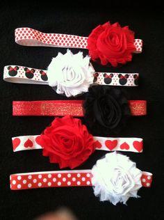 Minnie Mouse headband set  on Etsy, $12.00