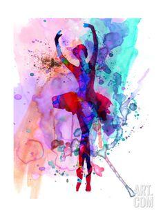 Ballerina's Dance Watercolor 3 Art Print by Irina March at eu.art.com