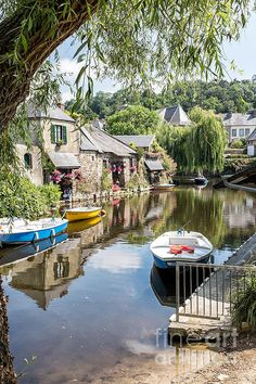 Why not hop in your boat and head on over to visit me in my gorgeous river cottage in Pontrieux France? You're always welcome :D